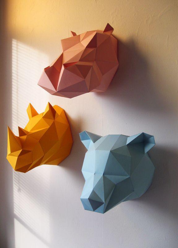 renard en origami assembli orange. Black Bedroom Furniture Sets. Home Design Ideas