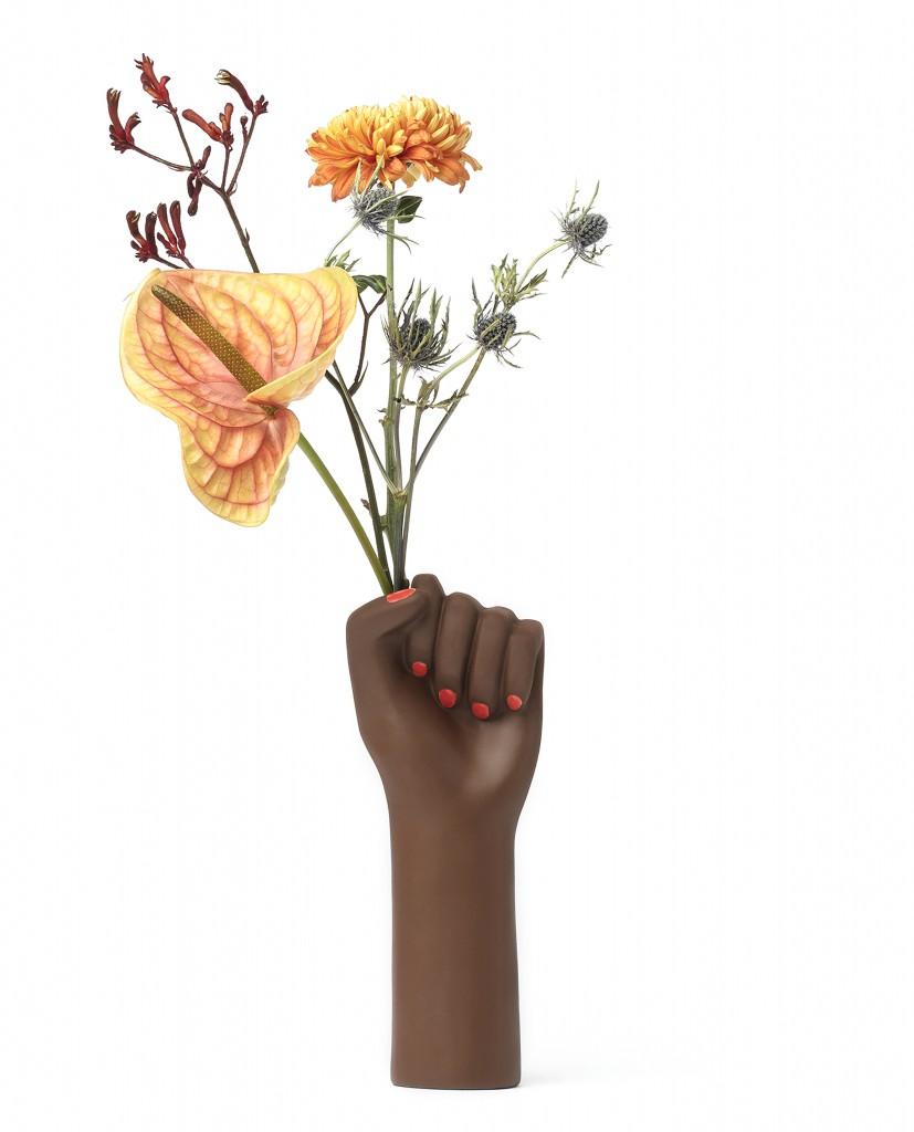 Vase Girl Power noir - DOIY