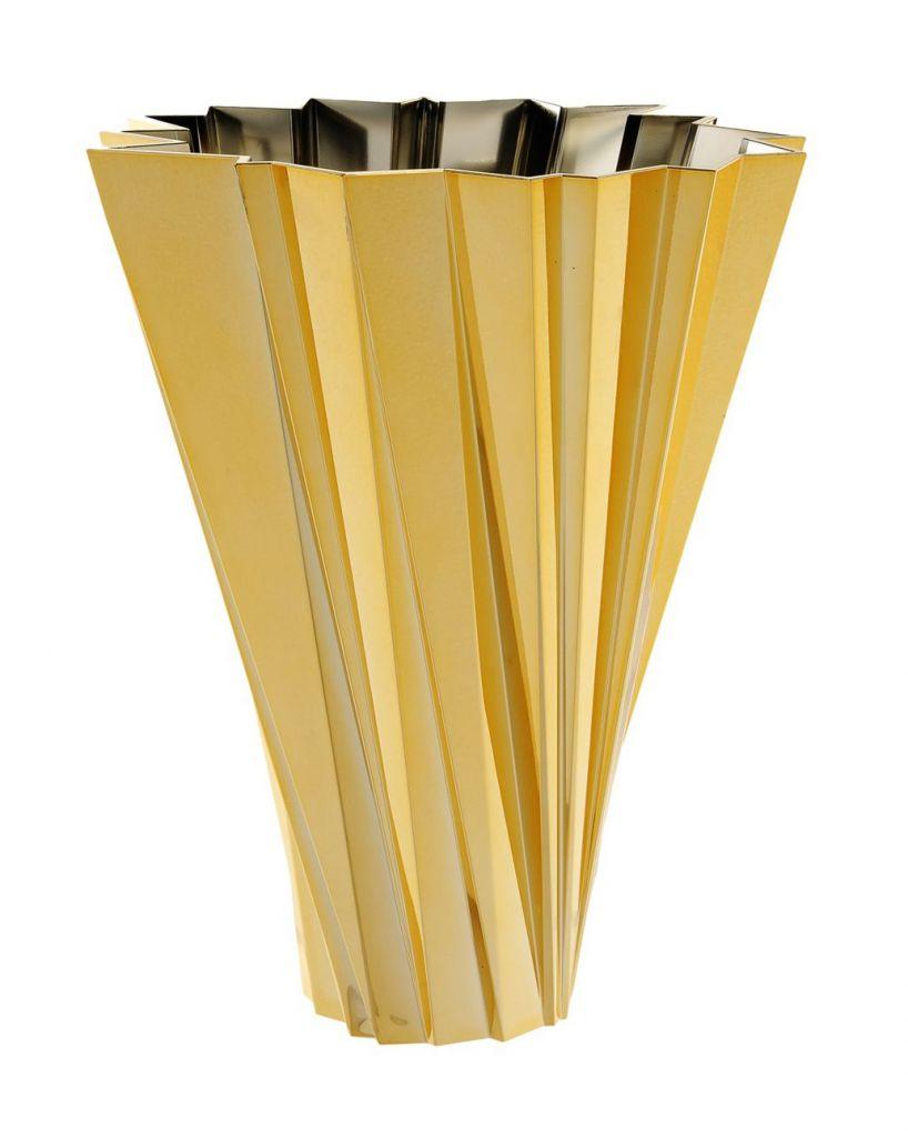 Vase Shanghai - Métallisées or - Kartell