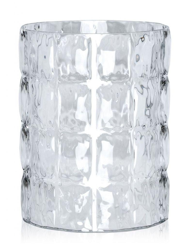 VASE MATELASSE - Blanc brillant