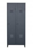 Vestiaire B2 haut étagères & penderies - Mat texturé - Tolix - Bleu nuit