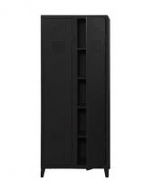 Vestiaire B2 haut étagères & penderies - Mat texturé - Tolix - Noir