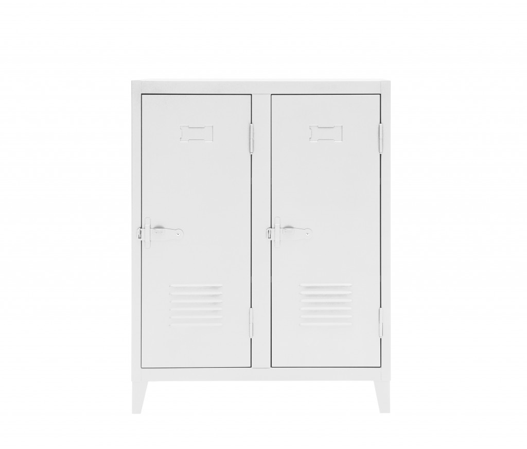 Vestiaire B2 bas - Brillant - Tolix - Blanc