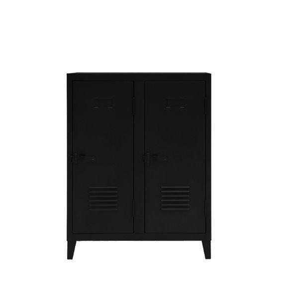 Vestiaire B2 bas - Brillant - Tolix - Noir